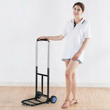 Folding Hand Truck And Dolly Portable 2 Wheels Luggage Trolley Cart With Bandage