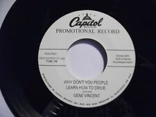 GENE VINCENT 45 repro - Why Don't You People Learn How To Drive