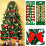 12 Pcs/Set Bow Christmas Tree Decor Home Xmas Hanging Ornament Bowknot Party