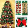 Christmas Bowknot Xmas Tree Ornament Bow Hanging Decoration Gift DIY Decor 12pcs