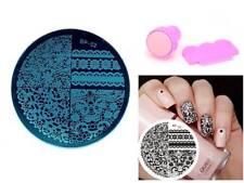 Nail Art Stamping Chic Lace Pattern Image Plate Manicure Stamper Scraper Kit 02