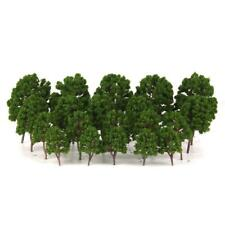 20 Tree Models Train Railway Wargame Diorama Scenery Lanscape 1/75-200 Green