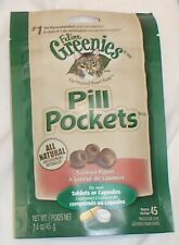 Feline Greenies Pill Pockets Salmon Flavor 1.6 oz Bag of Cat Treats 45 count