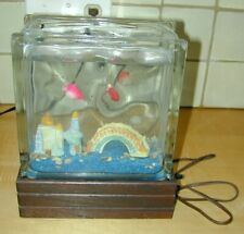 Fun Vintage Faux Aquarium w Weighted Fish, Japanese Bridge & House-Mustc