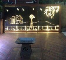 Decorative Garden Metal Fence Screen 'Outback' Lasered, 4500x1800, Corten Steel