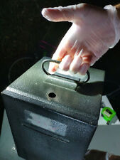 More details for metal cash box with feeding system from casino / 19cm x 19cm x 29cm internal
