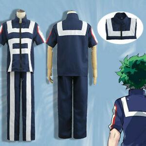 My Hero Academia Outfit Izuku Training Suit Midoriya Uniform Cosplay Costume//