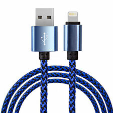 Premium Braided iPod Touch 6G, 5G & Nano 7G Lightning Charger Lead Cable - Blue