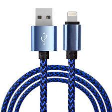 Premium Intrecciato iPod Touch 6g, 5g & Nano 7g Lightning Caricabatterie Cavo Di Piombo-blu