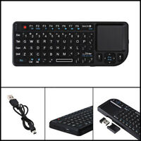 2.4GHz Wireless Mini Touchpad Rechargeable Slim Keyboard For HTPC PS3 PS4