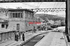 PHOTO  YORKSHIRE DUNFORD BRIDGE NEW RAILWAY STATION AND SIGNALBOX UNDER CONSTRUC