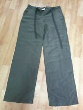 "Armani Collection Size 44"" Green Cargo Linen Trousers"