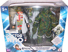 "5"" Doctor Who 4th Dr. The Seeds of Doom Action Figure Set, New!"