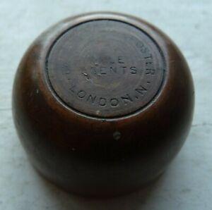 Rare and early BARNETT & FOSTER agents LONDON wooden Codd bottle opener C 1870s