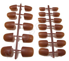 24 BUDGET FALSE NAILS TIPS + GLUE FOR FINGERS NAIL TIP COFFEE BROWN COLOUR