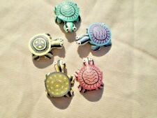 5 ~ Multi Colors CUTE TURTLES kitchen refrigerator MAGNETS polymer clay 26 mm