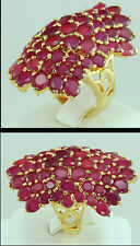 Size. 7.5 Fashion Jewelry Gems 14K Yellow Gold Red Ruby Sapphire lady Ring R0375