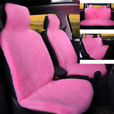 Pink Premium Quality Plush Car Seat Cover Pad Full Seat Front & Rear Seat Covers