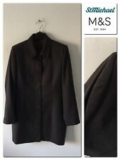 M&S Marks And Spencer St. Michael Women's Wool Coat Size 16