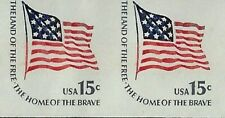 """New listing Stamp Us Scott 1618cd """"Ft. McHenry Flag"""" Imperf Cut Is Missing Error Mnh 15 Cent"""