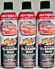 Waterless Wash Carnauba & Wax Fastwax FW1 Spray Can Removes Tar Dirt Bugs