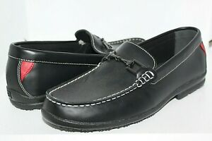 NEW MENS FOOTJOY CLUB CASUALS BLK LEATHER BUCKLE GOLF SHOES LOAFERS 8.5 M 79015