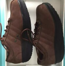 MBT Oxford Brown Suede Size 10 Physiological Training Footwear Walking Shoes