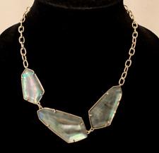 Kendra Scott Gold Plate Violet Cubic Zirconia Statement Necklace Gray Illu $178
