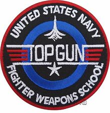 TOP GUN USA NAVY  IRON-ON EMBROIDERED PATCH / BADGE / LOGO 205
