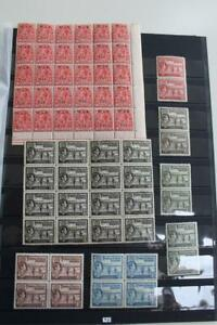 TURKS and CAICOS MNH Collection of Blocks and Pairs inc KGV War Tax Block of 25