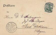 BREMEN, Postkarte 1908, Leopold Engelhardt & Biermann