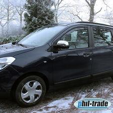 1 Set Edelstahl Spiegel Kappen V2A Chrom für Dacia Dokker Lodgy Nissan Micra K13