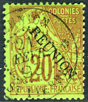Reunion 1891 French Colony 20¢ Red SG #23 VFU N915
