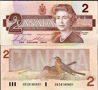 CANADA 2 DOLLARS 1986 P 94 C UNC