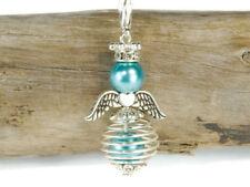 10 DIY Engel Anhänger Bastelset türkis Drahtperle Engel Anhänger Perlenengel