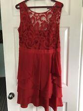 Coast Red Dress Size 16 Sleeveless