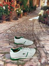 Lacoste SHOHJI 18Q Size 8 Men's Athletic Classic Shoes White/Green Low Top