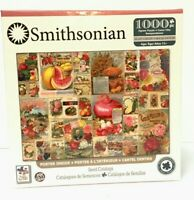 "Smithsonian 1000 Piece Seed Catalog Jigsaw Puzzle 19"" x 26"" Free Shipping"