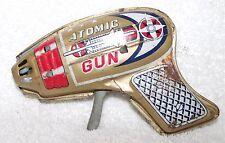 Vintage Atomic Raygun Pistol-Tin Toy-Spaceage-Friction-Old -Works!