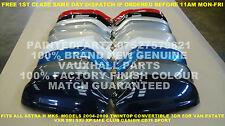 NEW PAIR GENUINE O/S N/S VAUXHALL MK5 ASTRA H DOOR MIRROR COVERS SRI SXI XP