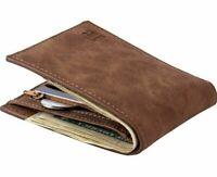 Designer Mens Wallet Leather Pu Bifold Short Wallets Men Hasp Vintage Male Purse