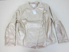 Chico's Faux Leather Jacket - Womens 2 - Champagne - NWT