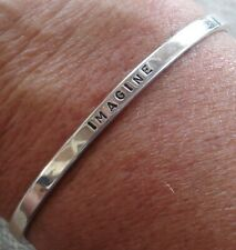 "Georgianna Koulianos Gk Sterling Silver ""Imagine"" Inspirational Cuff Bracelet"