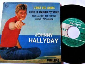 JOHNNY HALLYDAY Mashed Potatoes VINYL 45 Popcorn R&B Mod Go Go French Philips Ex