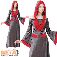 Deathly Medieval Princess Ladies Halloween Gothic Vampire Devil Womens Costume