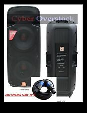"MR DJ USA IND. PBX6000S PASSIVE LOUD SPEAKER DUAL 15""3 WAY WITH 25' CABLE"