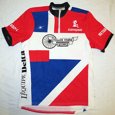 vtg CONTRA COSTA CYCLING Jersey LARGE 90s Canopus Metabolol L'Equipe Delta L