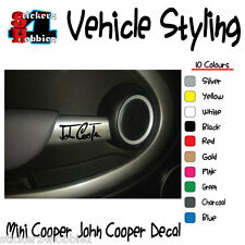 Mini Cooper John Cooper Door Handle Interior Sticker Decal x4