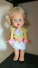 Vintage So Surprised Suzy Galoob Baby Face Doll 1990 with clothing