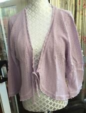 Tie Cotton Blend Thin Knit Jumpers & Cardigans for Women